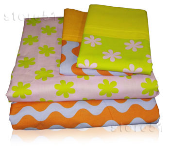 Daisy Flowers Full Sheet Set - Girls Bedding Sheets