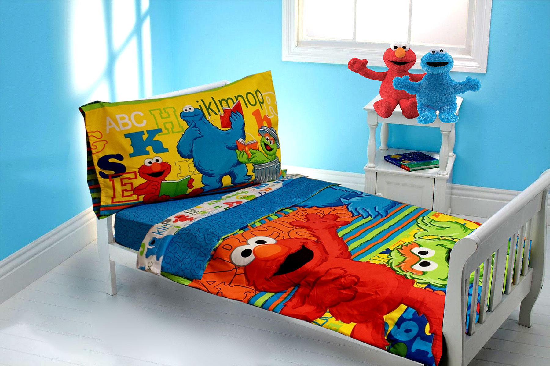 twin elmo sheets sesame street toddler bedding elmo abc 123 comforter