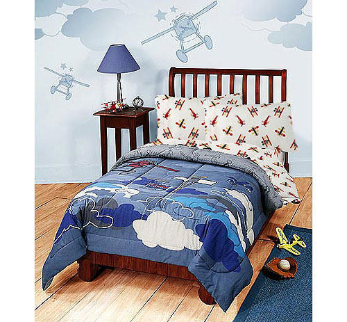 Disney Planes Bedding Set - Airplanes Comforter Sheets - Twin Bed