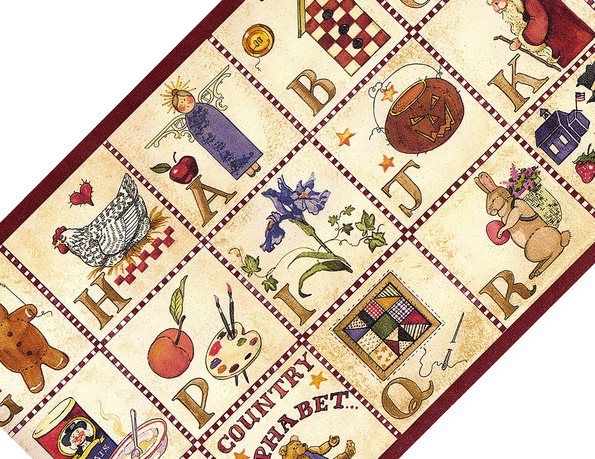 Rosedale Country Alphabet Prepasted Wallpaper Border Accent Roll at Sears.com