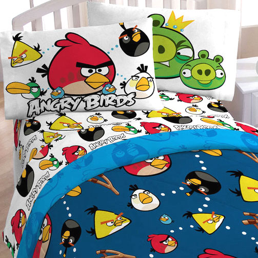 angry birds madness twin sheet set video game application sheets
