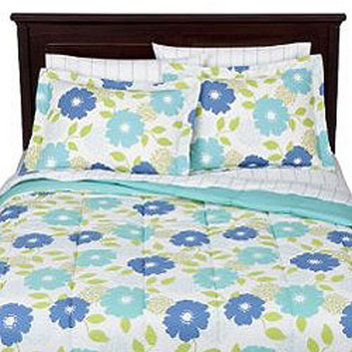 Blue Floral Bedding Set