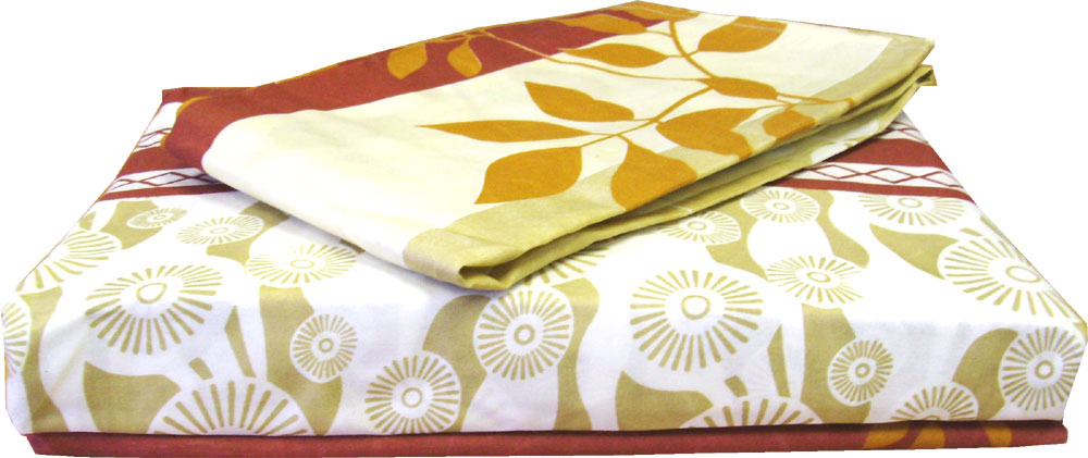 Autumn Leaves Sheet Set Fall Stripes Twin Bed Sheets