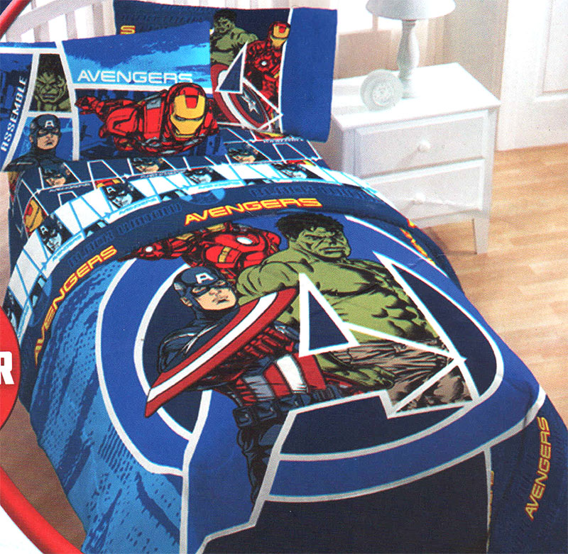details about marvel comics avengers assemble twin full comforter blue