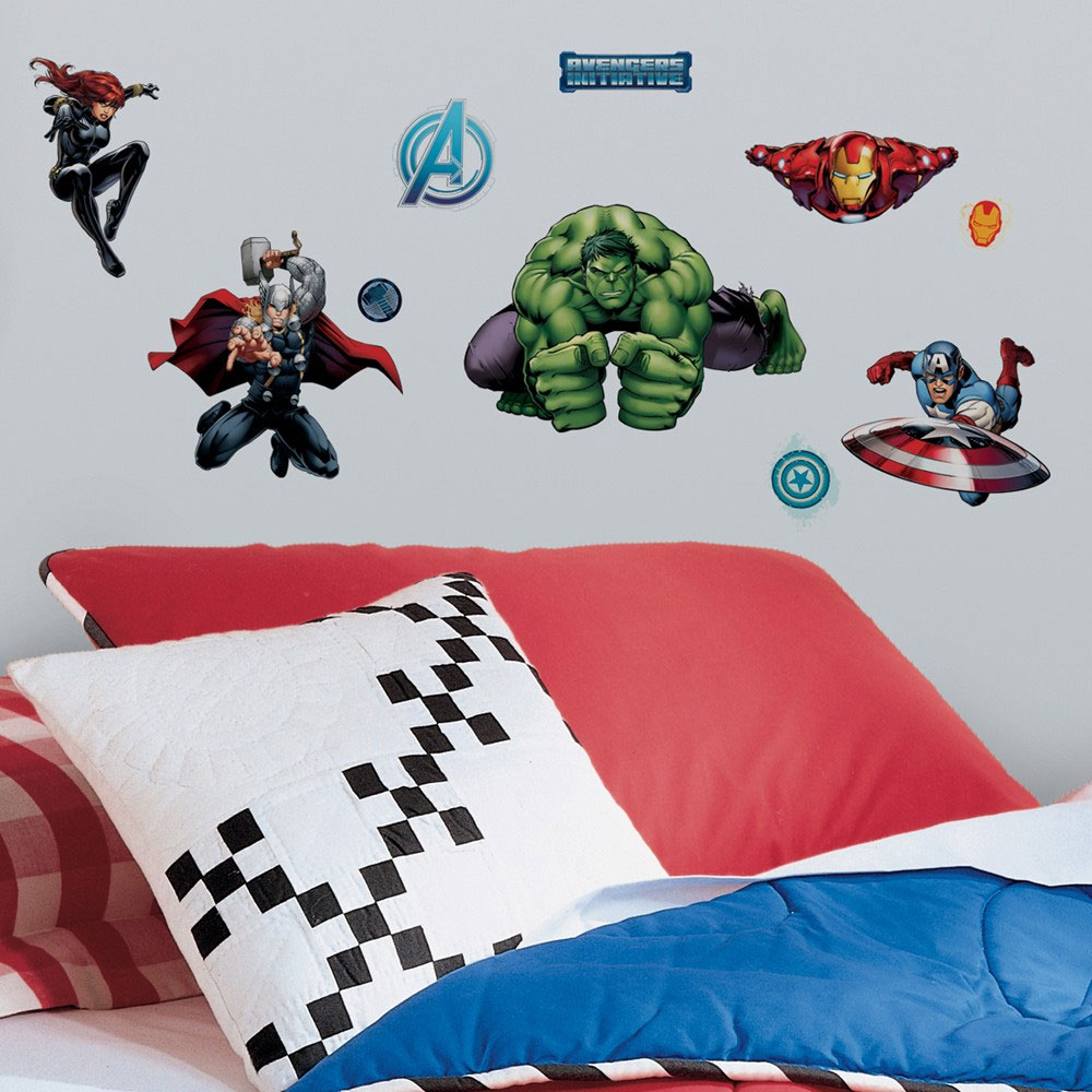 Marvel Avengers Wall Sticker Set - 28pc Superheroes Assemble Self-Stick Decals RMK2242SCS
