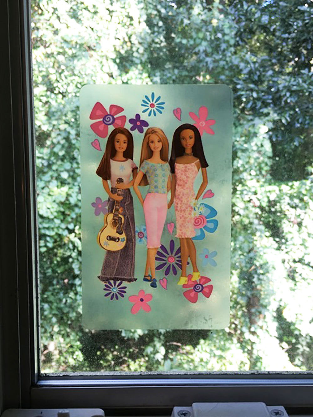 Barbie Peel & Stick 8 Window Clings Decals
