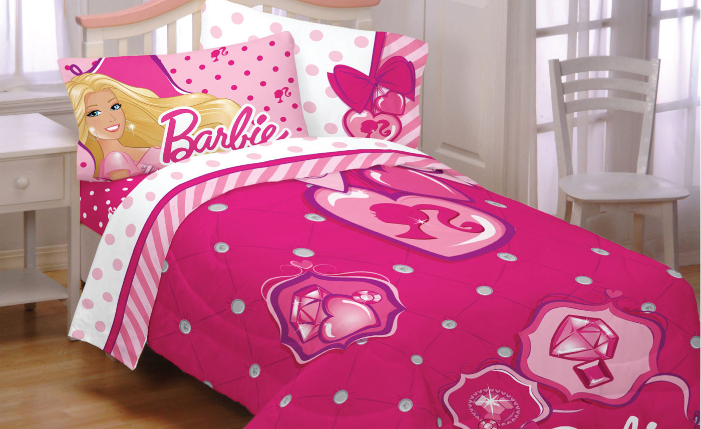 3pc Barbie Twin Bed Comforter Set