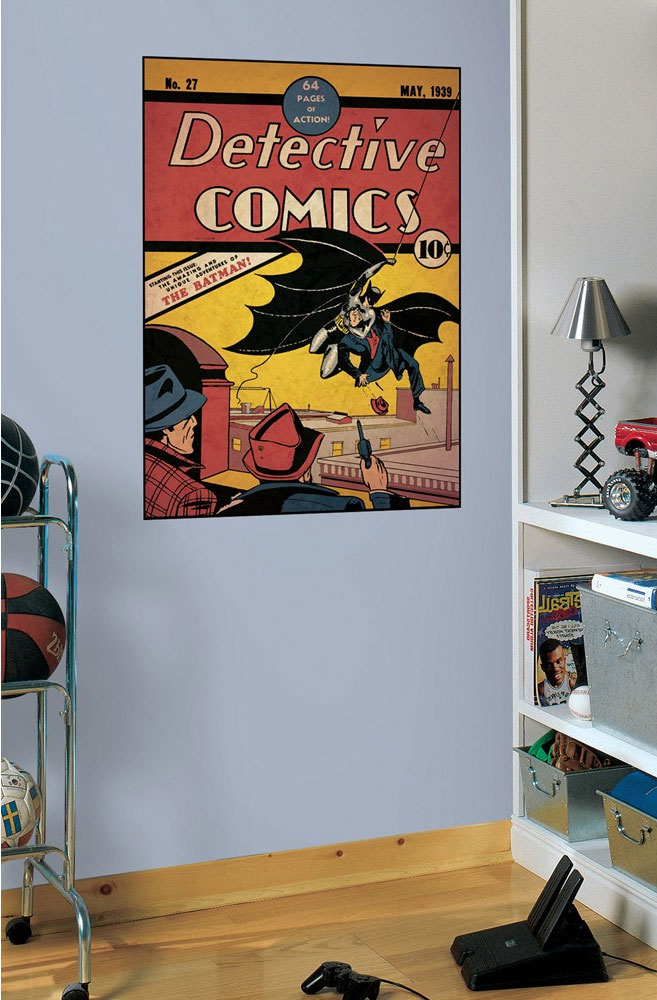 Batman First Issue Comic Book Cover Accent - DC Comics Superhero Peel-n-Stick Decal RMK1802GM