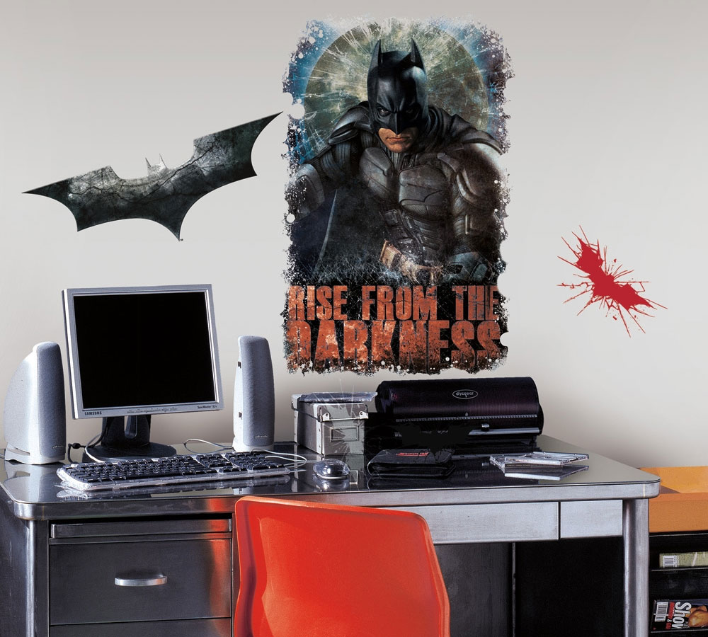 Dark Knight Batman Rises Self-Stick Decals