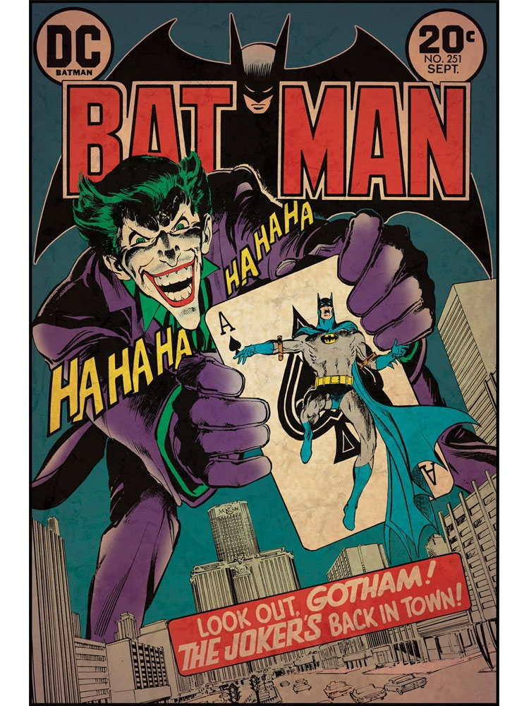 Batman Joker Wall Accent Dc Comics Book Cover Poster