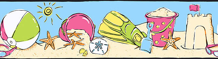 Beach Fun Wall Border
