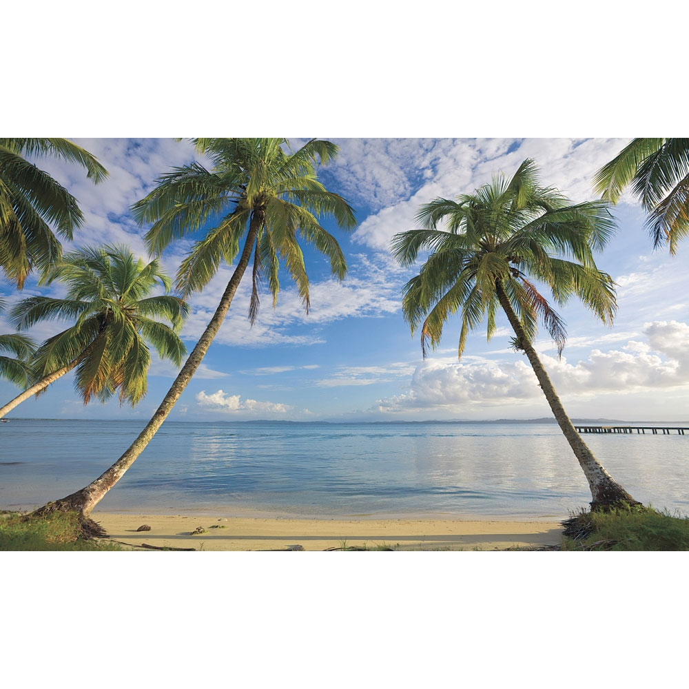 beach view wall mural ocean wallpaper accent decor