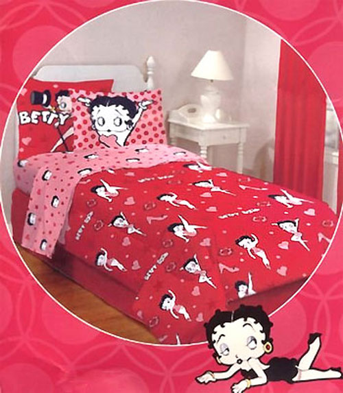 betty boop bedding set red retro queen betty boop bed set