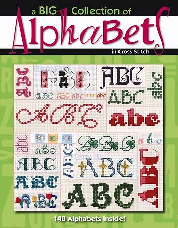 Alphabets Cross Stitching Letter - Carol Emmer - Craft Idea Designs Book