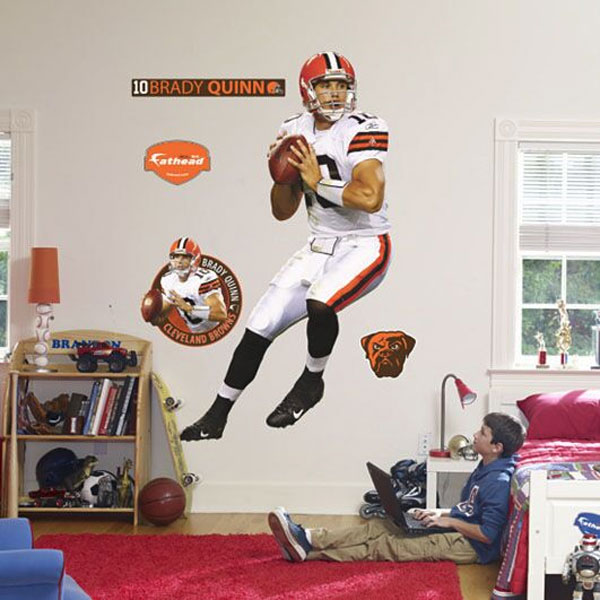 Brady Quinn Fathead - NFL Cleveland Browns Football Player Wall Sticker Set FH12-20249