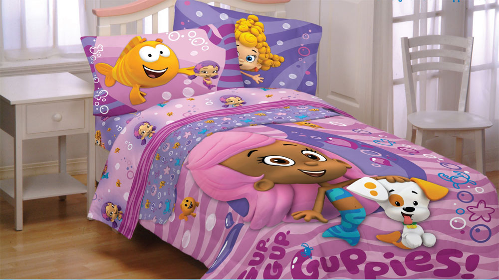 Bubble Guppies Fun Twin Comforter Molly Puppy Twin Bed