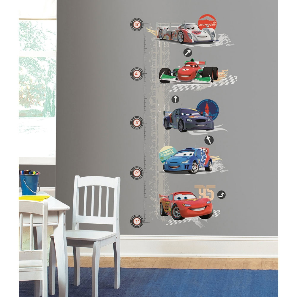 Disney Cars Growth Chart Wall Decal