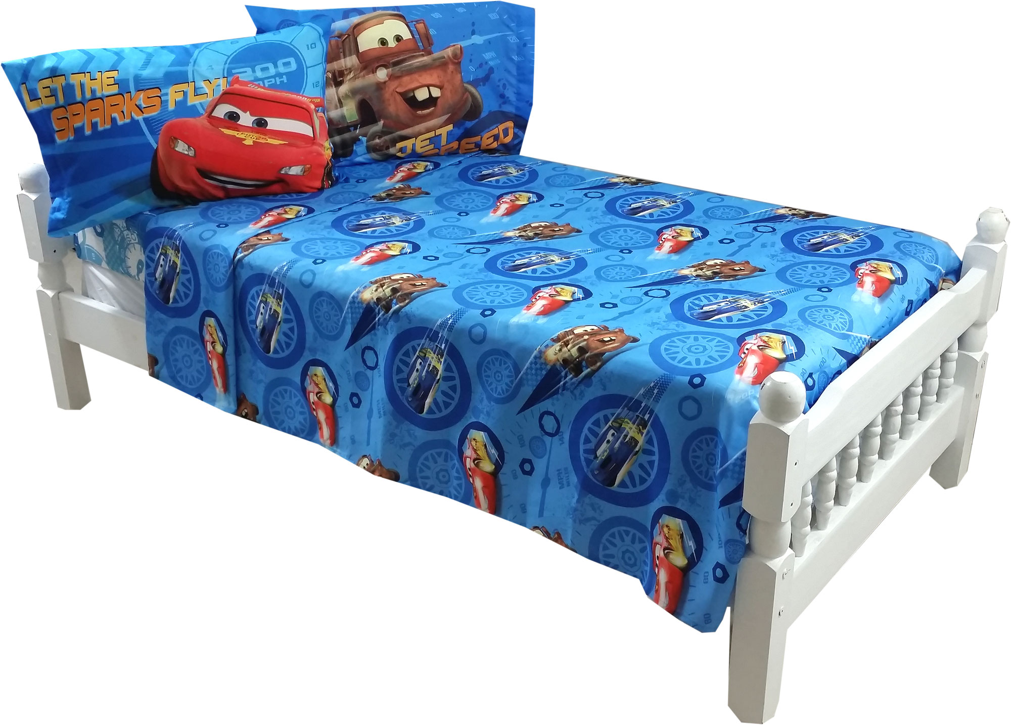 4pc Disney Cars Full Bed Sheet Set
