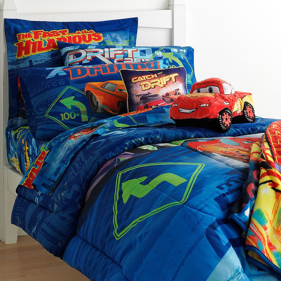 5pc disney cars drift full bedding set mater double comforter sheets