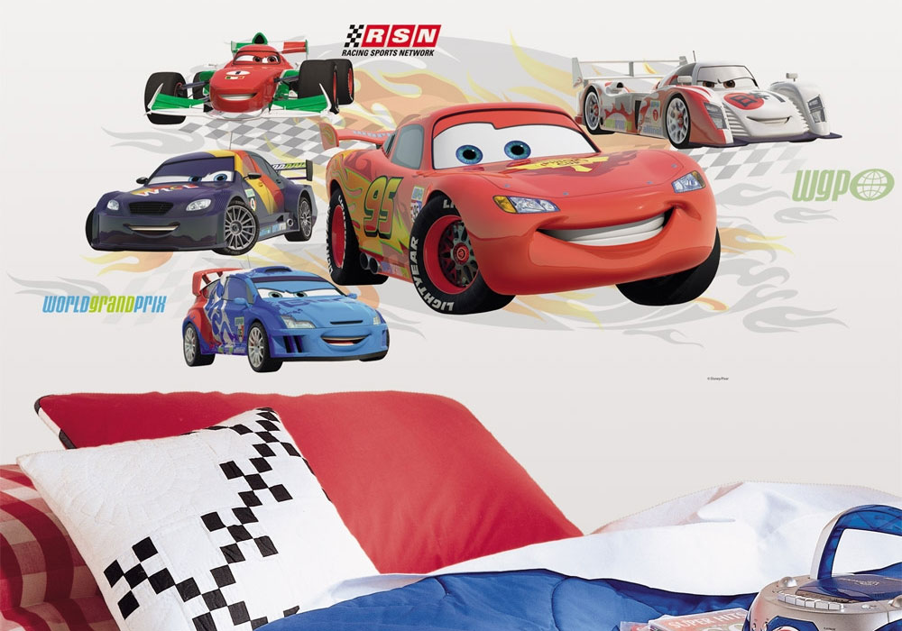 5pc Lightning McQueen Large Wall Sticker