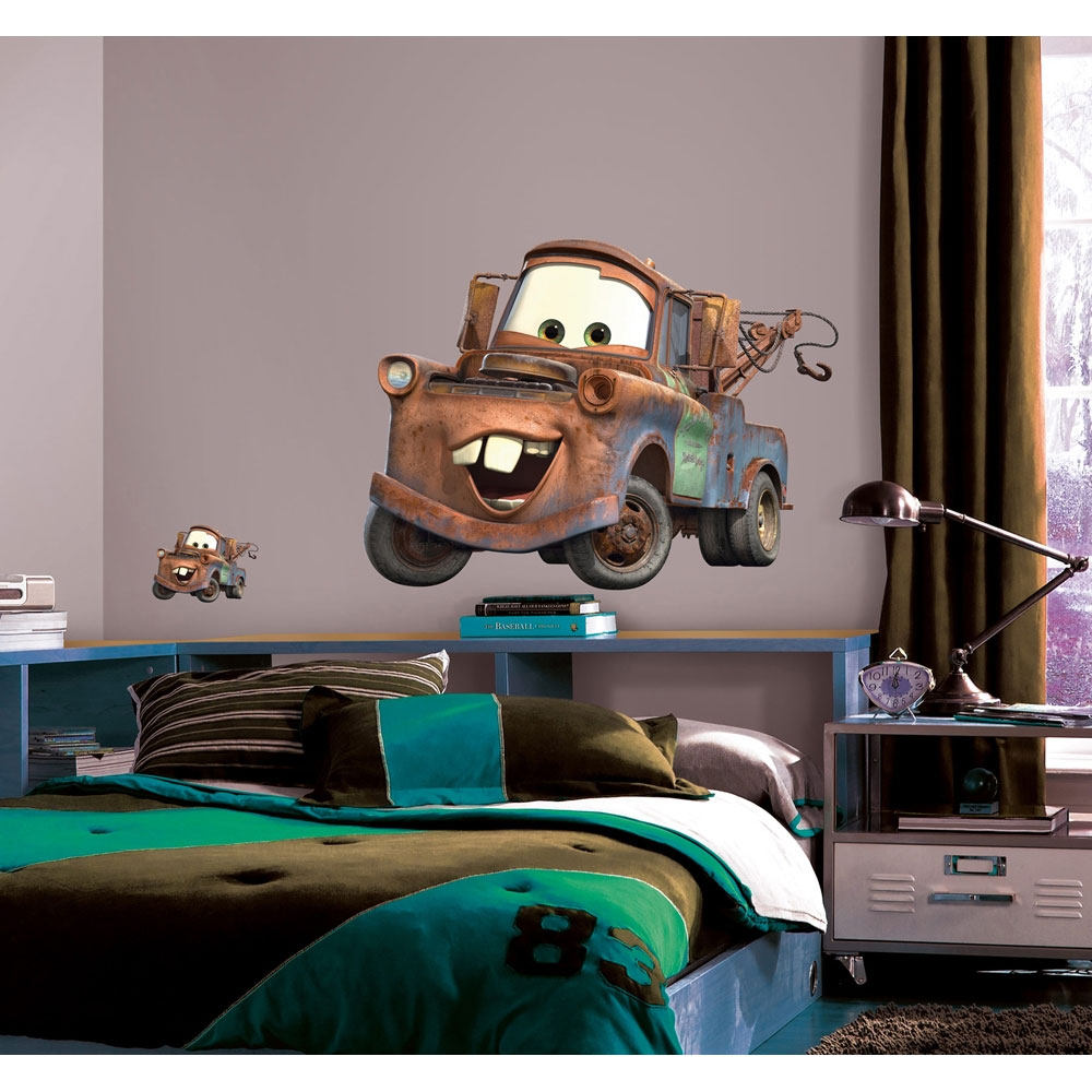 Disney cars mater wall accent pixar large decal sticker - Disney pixar cars wall mural ...