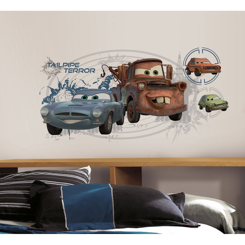 Cars 2 Mater Finn Mcmissile Wall Accent - Large Disney Tailpipe Terror Decal Sticker