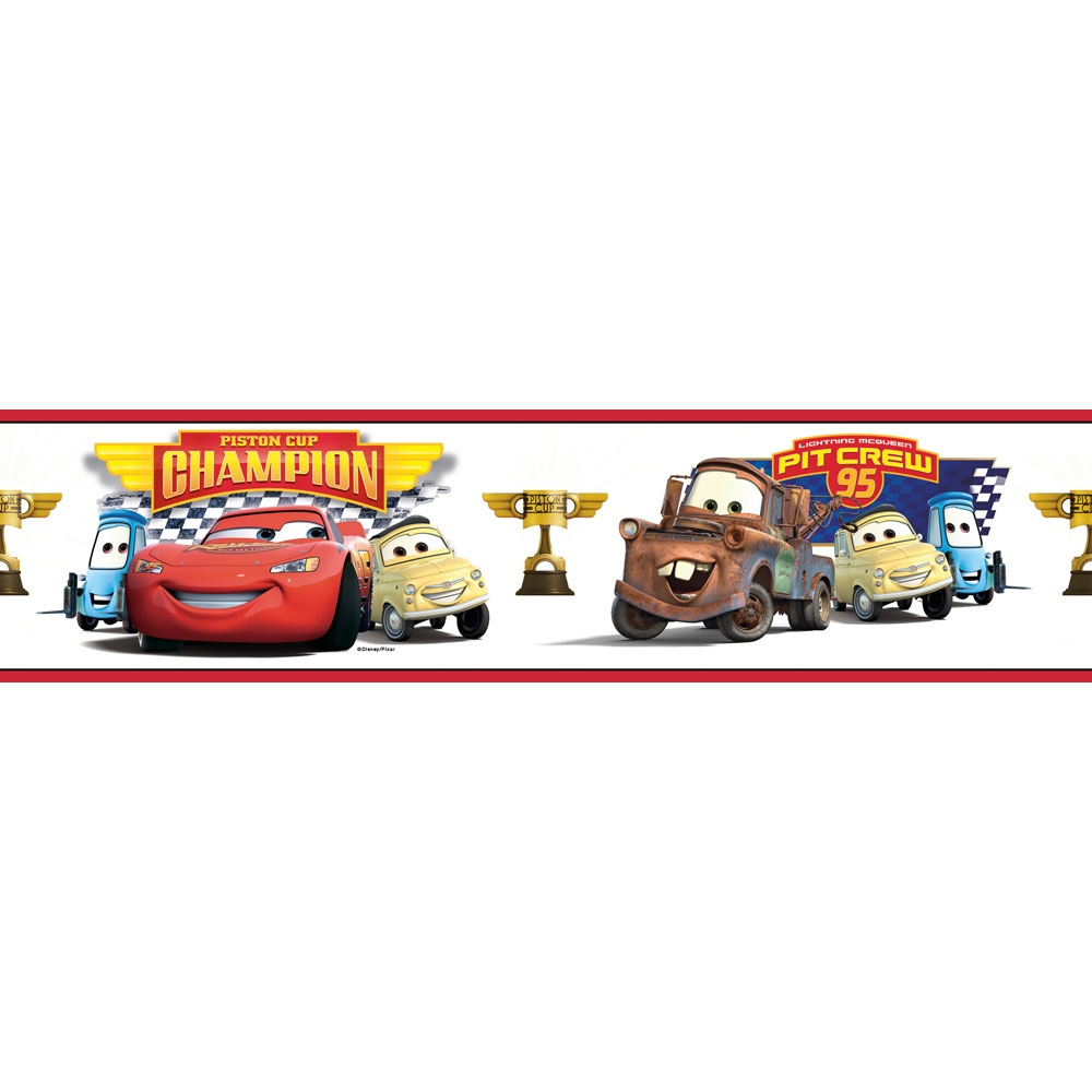 Disney Cars Champions Border - Piston Cup McQueen Accent Roll RMK1517BCS