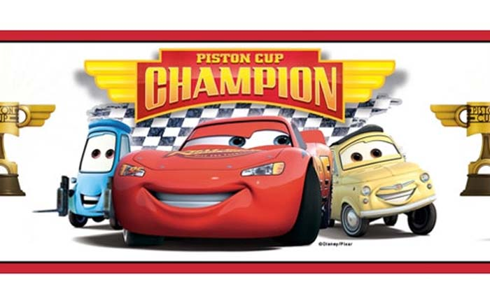 Cars Champions Set of 4 Wall Borders