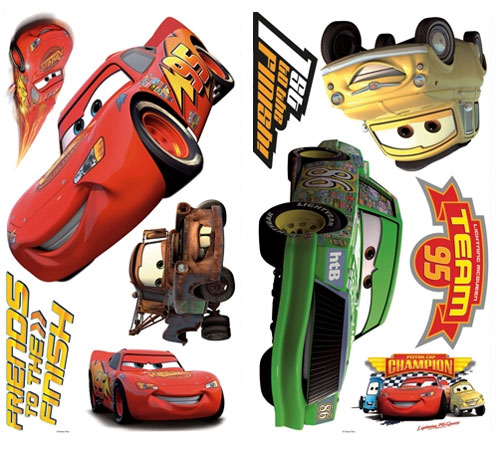 Disney Cars Peel-n-Stick Decals