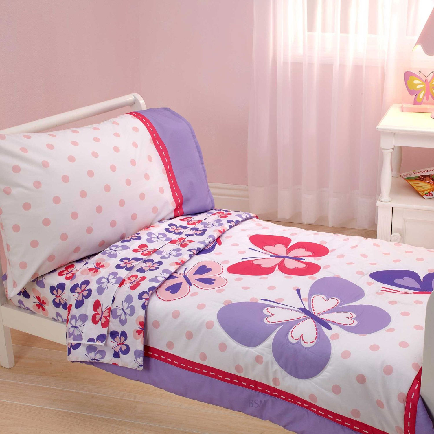 4pc Butterfly Toddler Bedding Set