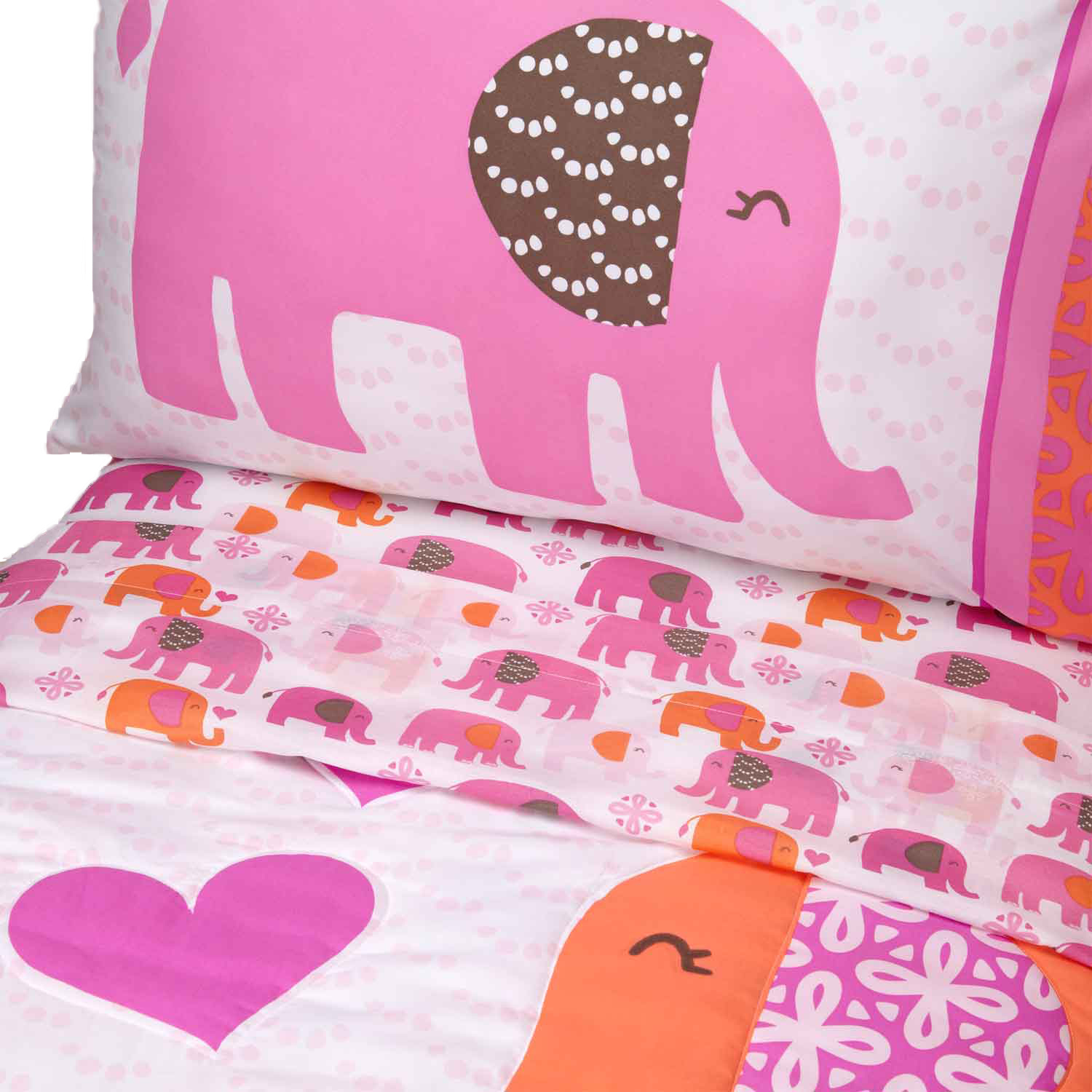 Elephants Toddler Bedding Set