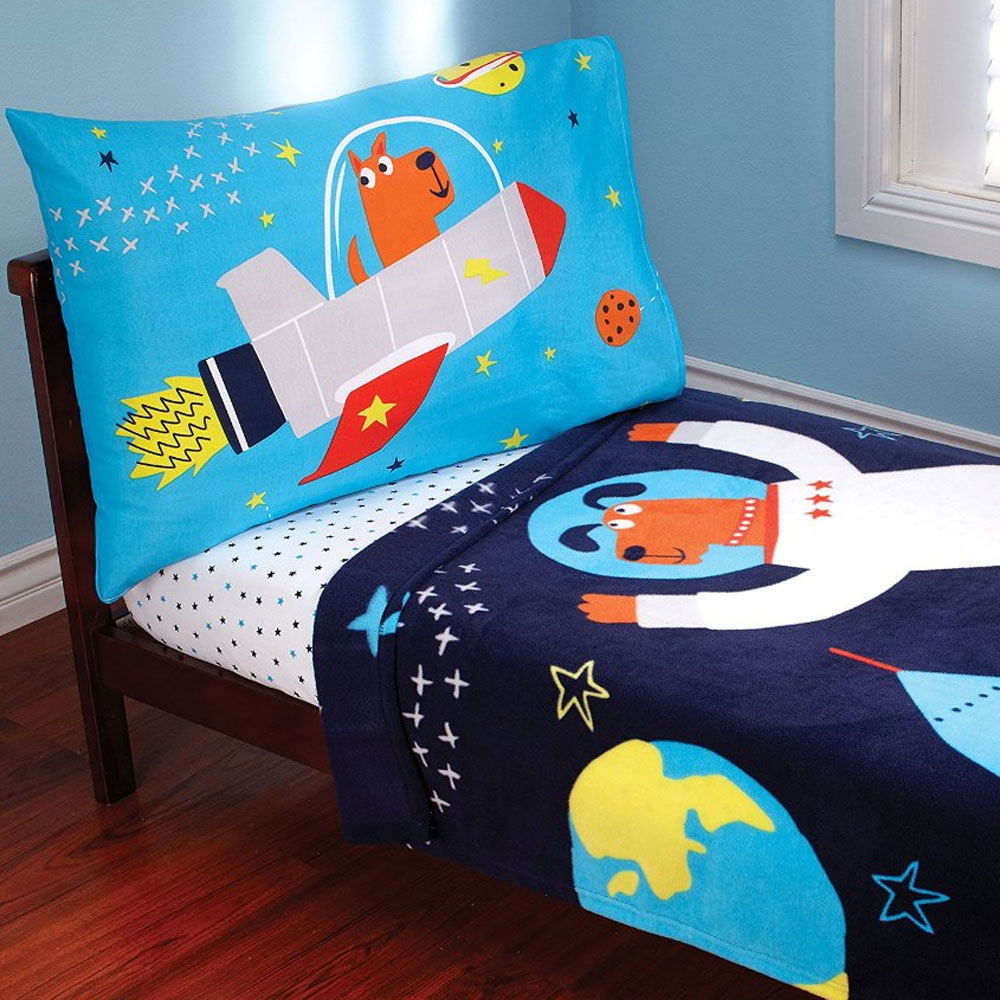 3pcs Space Adventure Toddler Bedding Set