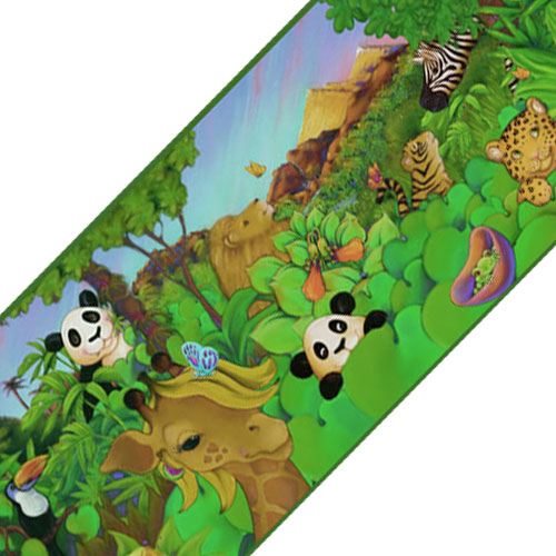 Sure Strip Cartoon Jungle Animals Prepasted Wallpaper Border Roll at Sears.com
