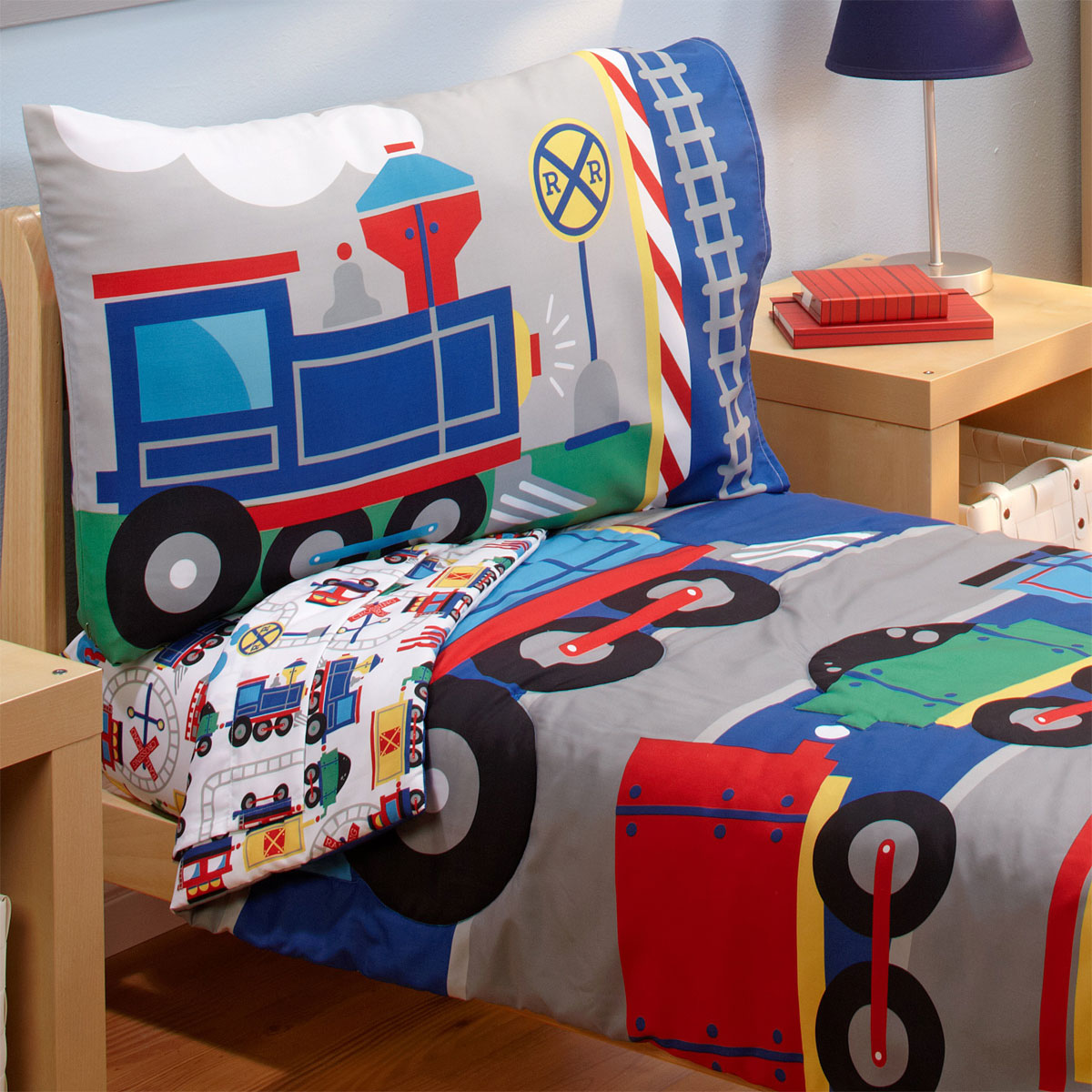 Choo Choo Trains Toddler Bedding Set<