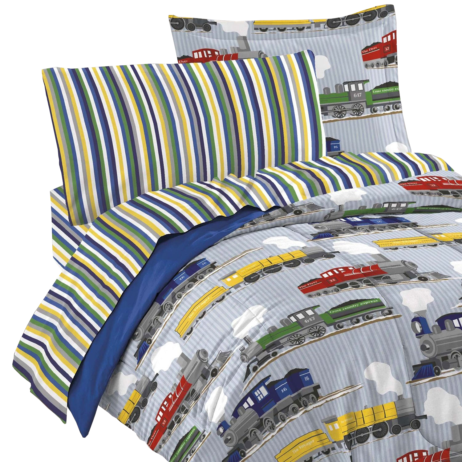 Trains and Railroads Bedding Set