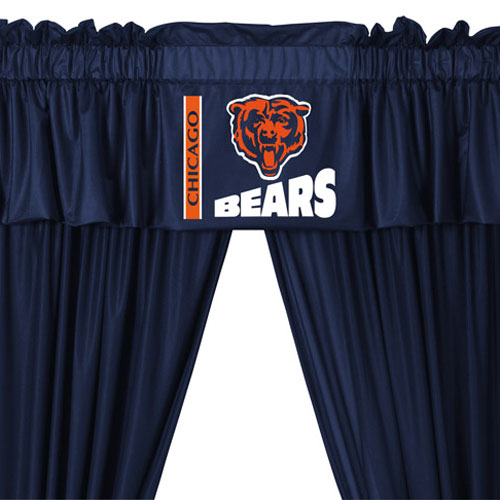 San Diego Chargers Bedding Sets: NFL Chicago Bears 5pc Curtains And Valance Set