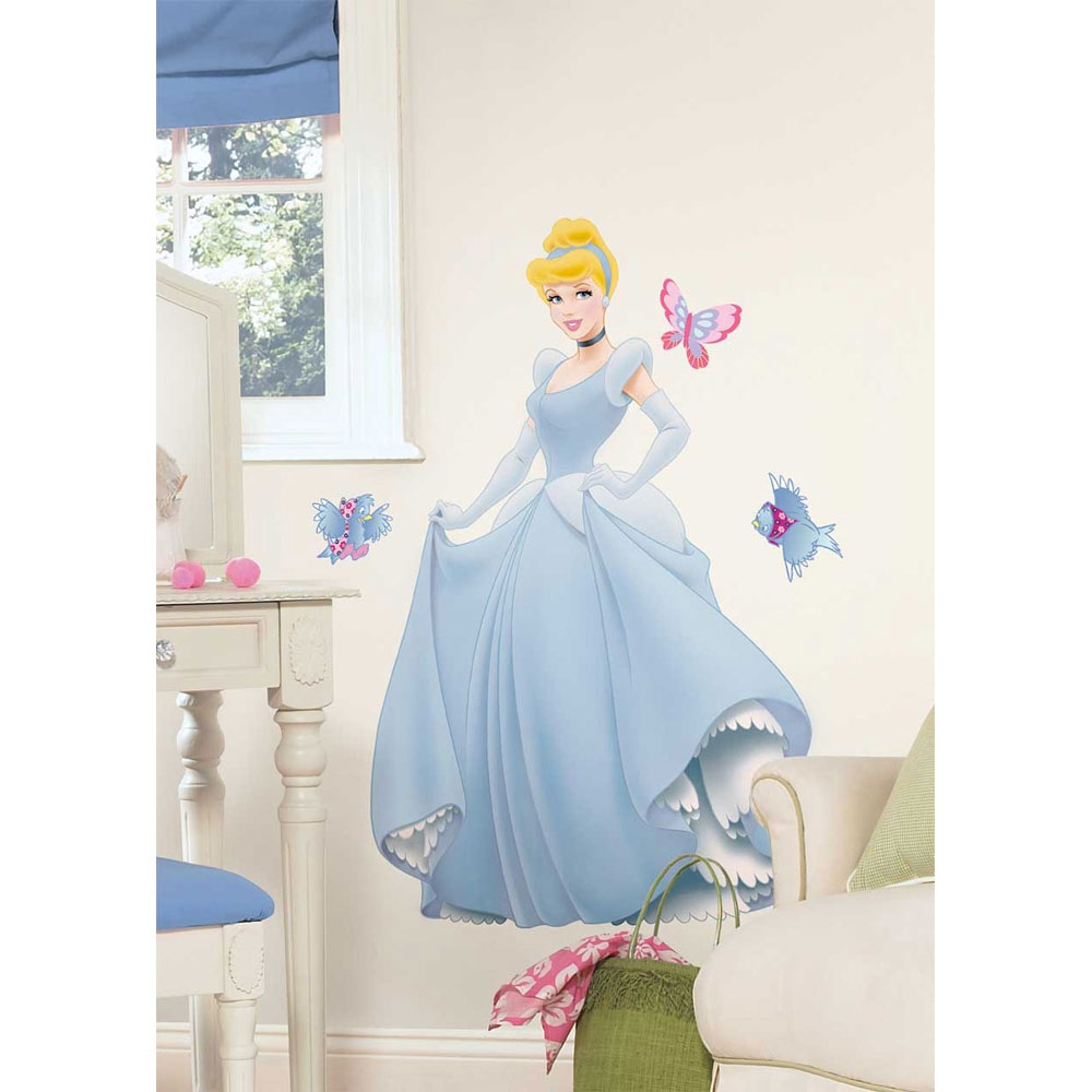 9pc Cinderella Giant Peel and Stick Wall Decal