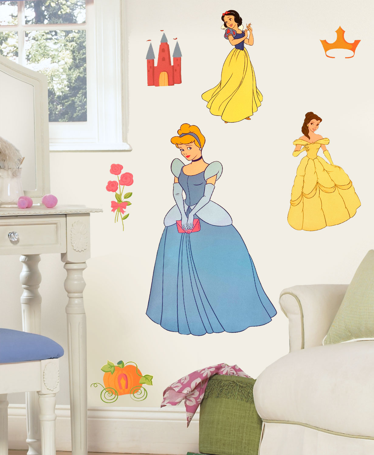 7pc Disney Princess Wall Accent Set