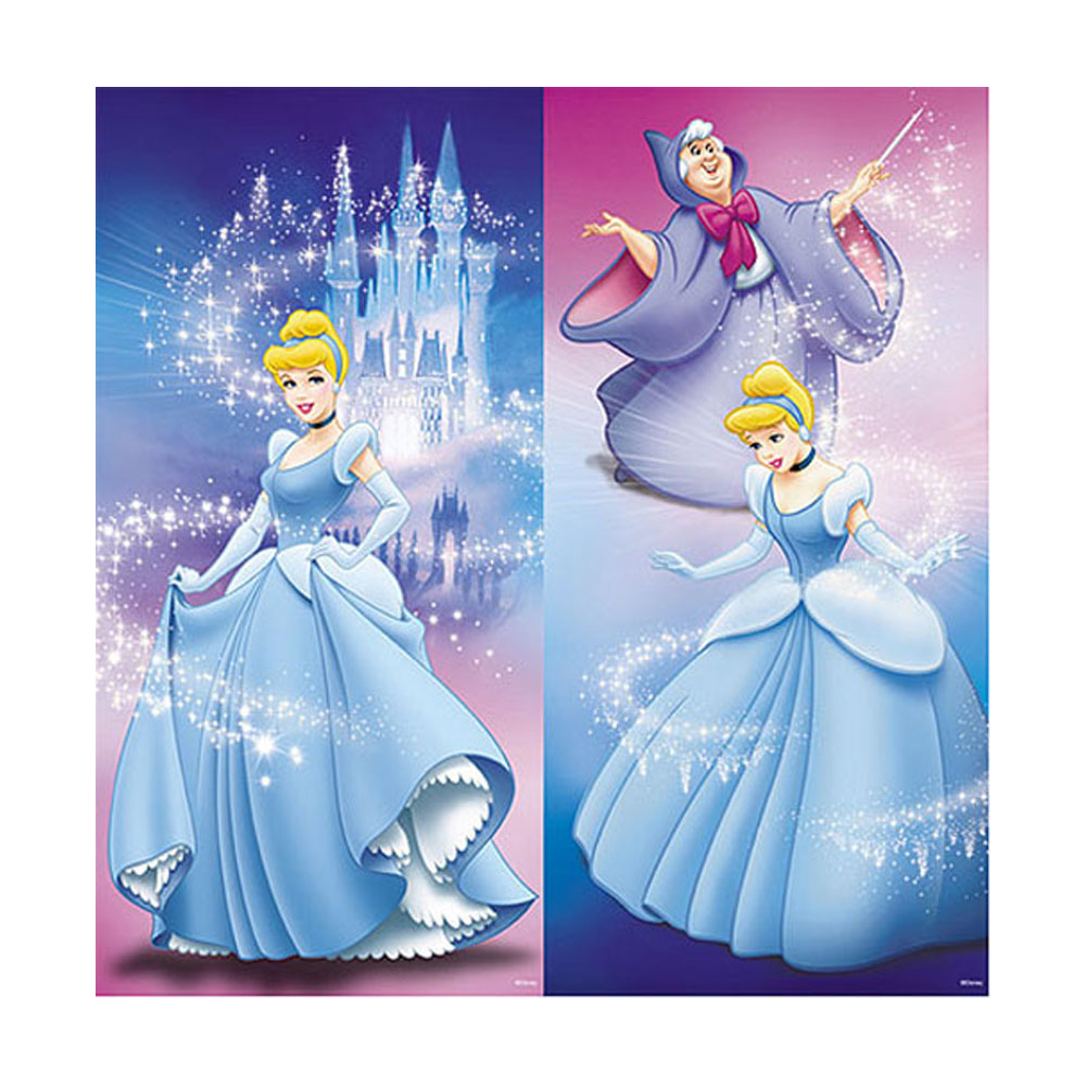 Disney Cinderella 2pc Peel and Stick Wall Art
