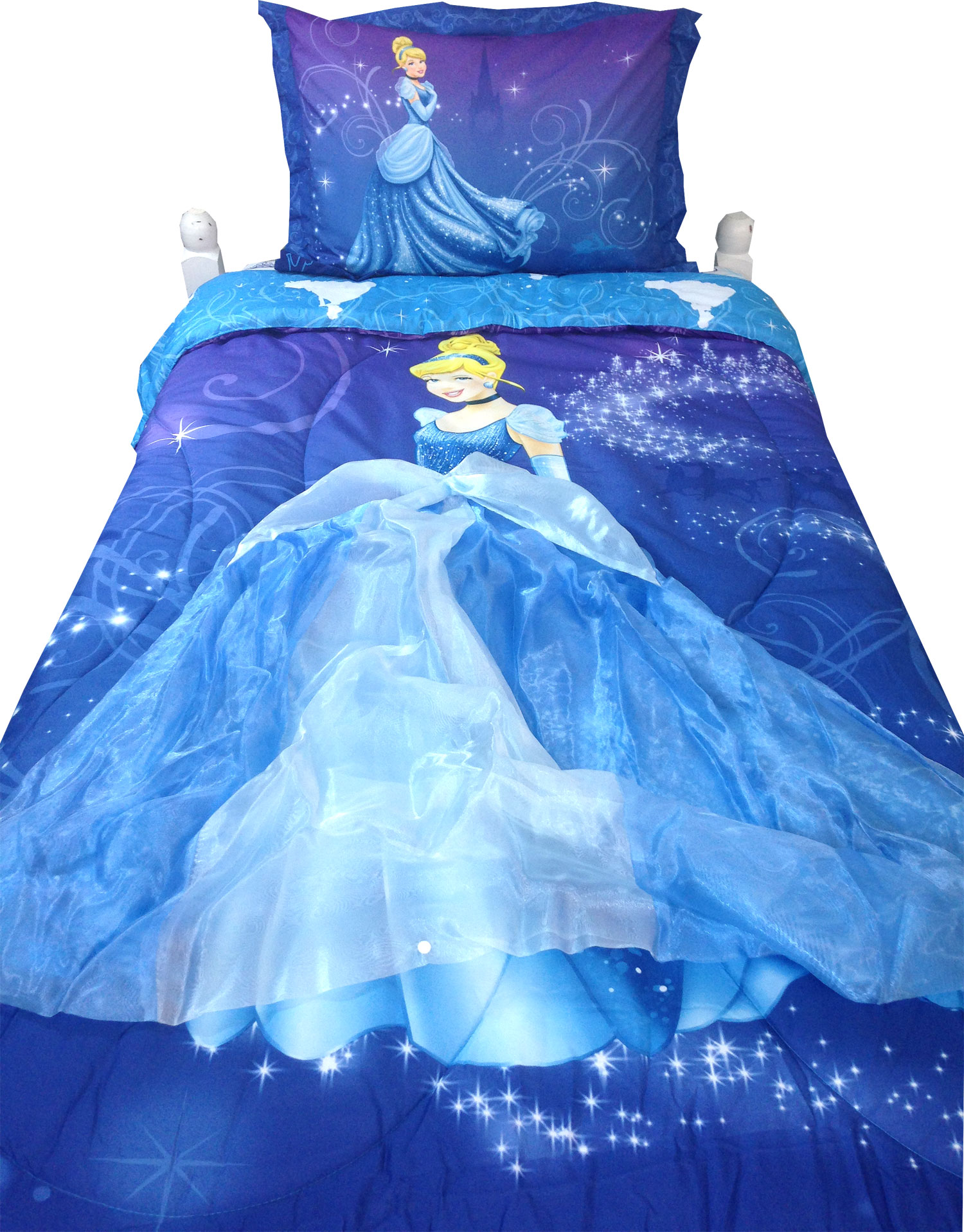3pc Disney Cinderella Twin Comforter Set