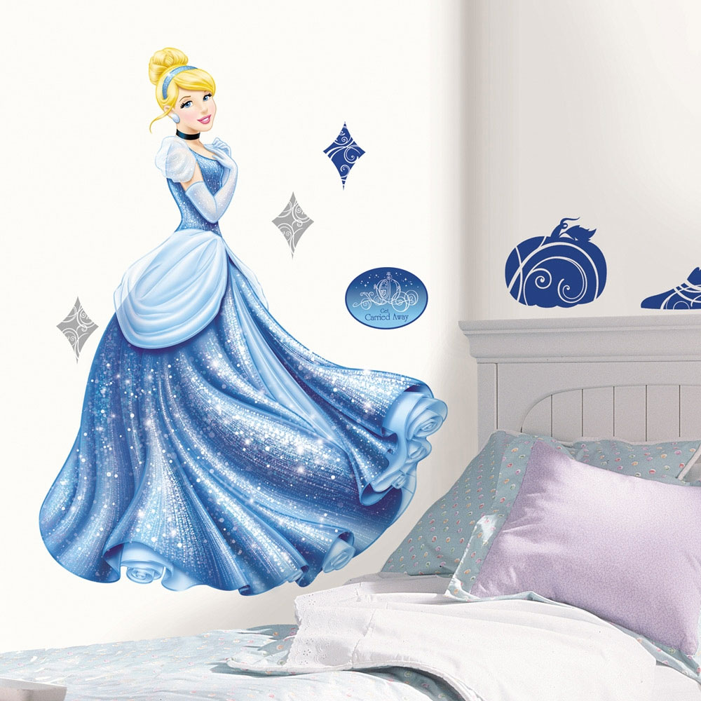 12pc Disney Cinderella Glamour Wall Accent