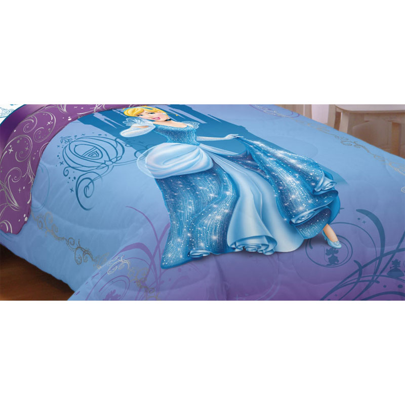 Disney Princess Cinderella Perfect Fit Twin Bed Comforter at Sears.com