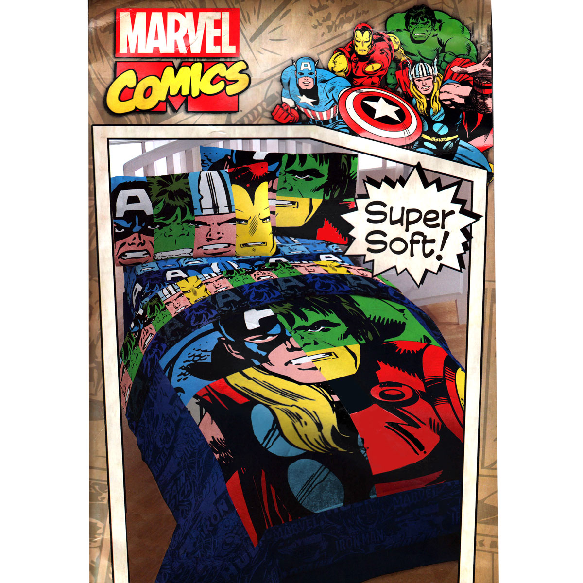 ... Twin Bedding Set - Superhero Comics Comforter Sheets Twin-Single Bed