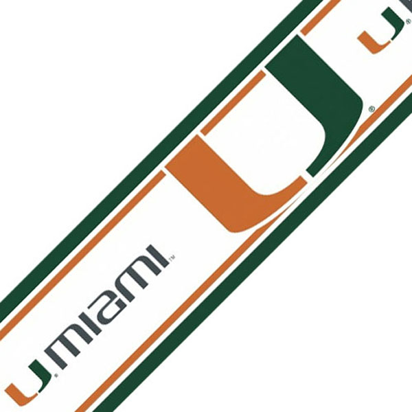 NCAA Miami Hurricanes Prepasted Wallpaper Border Roll at Sears.com