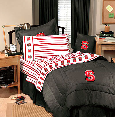 North Carolina State Bedding Set Twin Size Ncsu Wolfpack