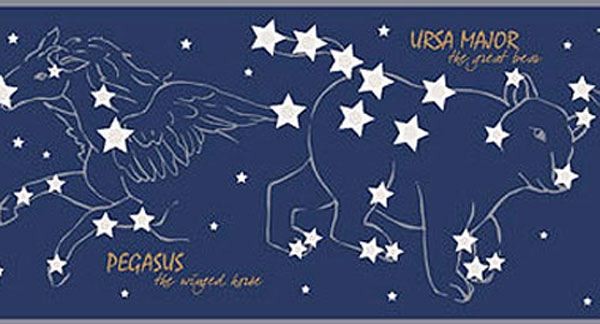 Night Sky Constellations Wall Border
