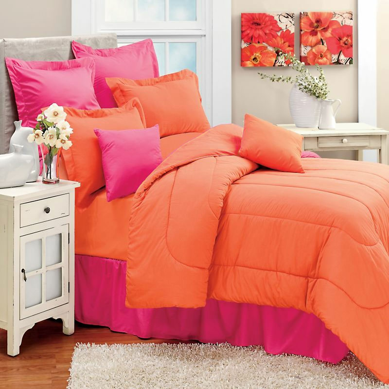 Set Solid Color Plain Queen King Twin Comforter Duvet