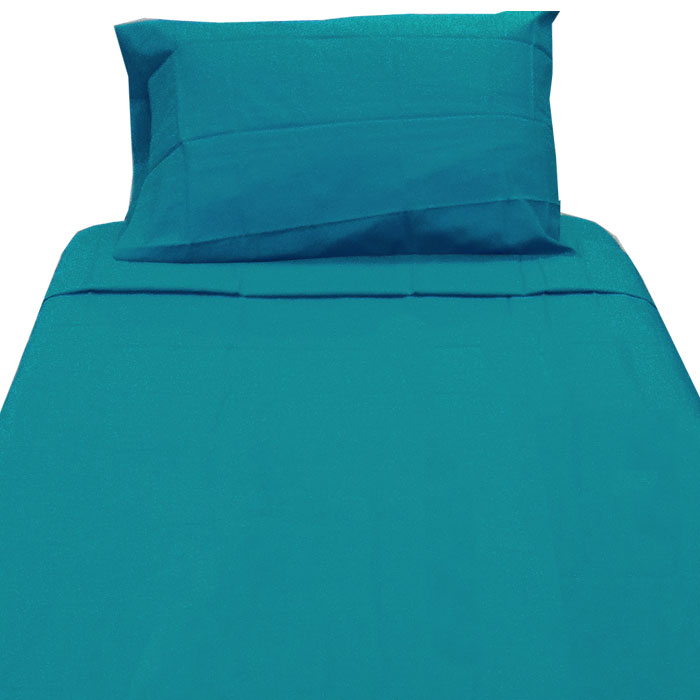 Dark Turquoise Twin XL Sheet Set - 3pc Teal Blue Extra Long Bedding