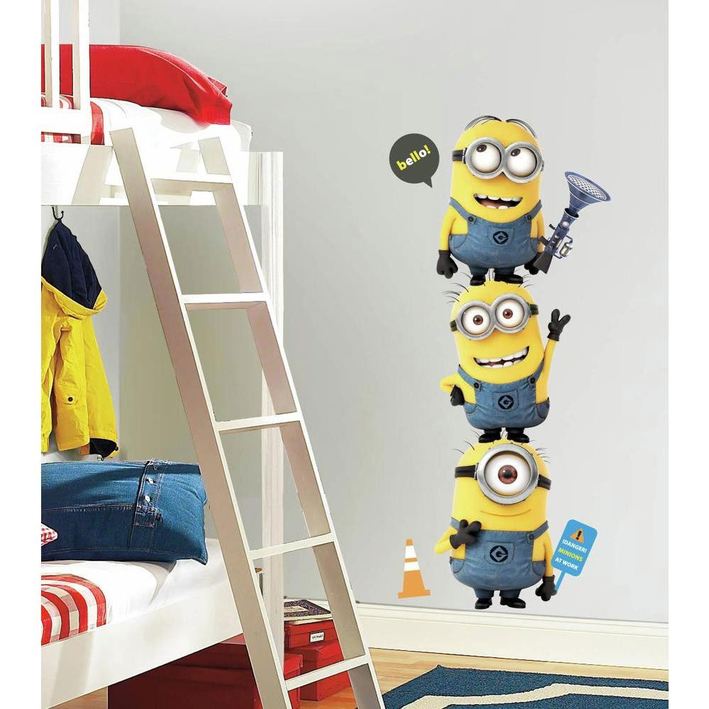Minions Large Wall Accent Sticker Set - 11pc Despicable Me Giant Decals RMK2081GM