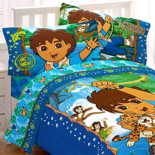 Diego bed comforter boys jaguar animal rescue twin bed for Go diego go bedding